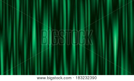 Abstract Green Striped Background With Copy Space