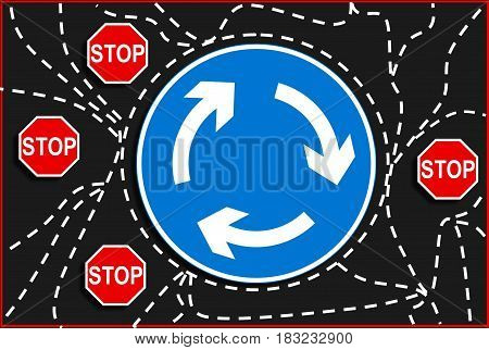 road sign illustration. sign board, traffic sign, traffic safety