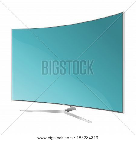 TV flat. Screen lcd plasma. Realistic vector illustration