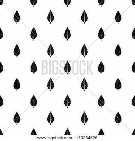 Hornbeam leaf pattern seamless in simple style vector illustration