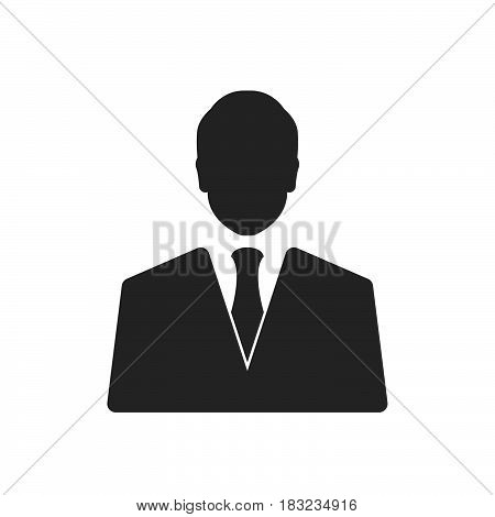 Businessman Icon Vector isolated on white .