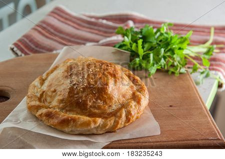 Puff Pastry Rolls With Ham, Salami And Cheese