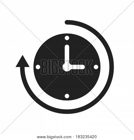 clock with arrow Icon Vector isolated on white .