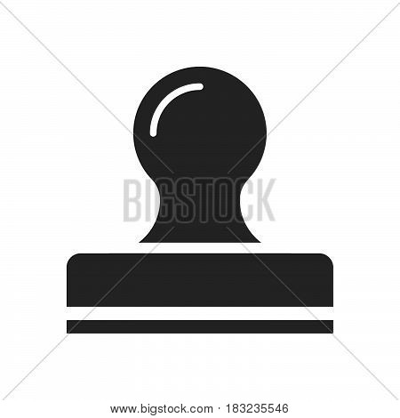 stamp Icon Vector isolated on white .