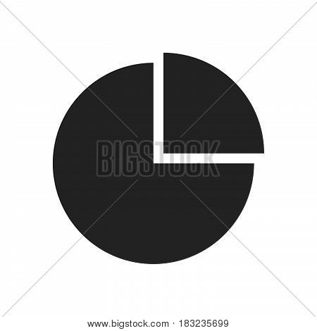 graph pie Icon Vector isolated on white
