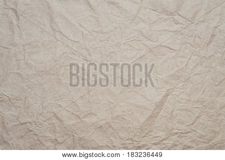 Abstract texture of crumpled old kraft paper