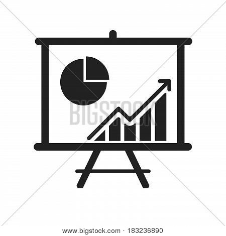 analysis board Icon Vector isolated on white