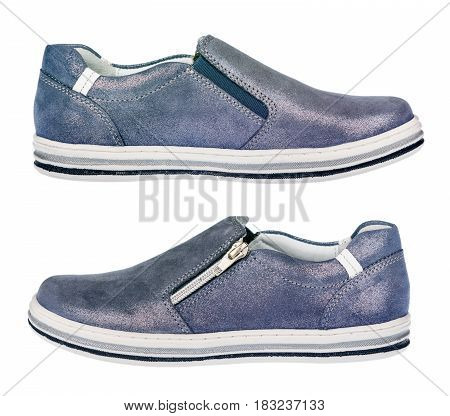 Girl sportive shoes - sneakers, isolated .