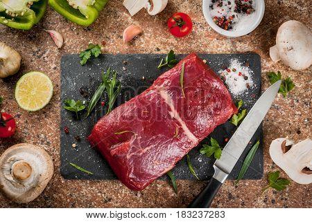 Raw Beef Meat Tenderloin