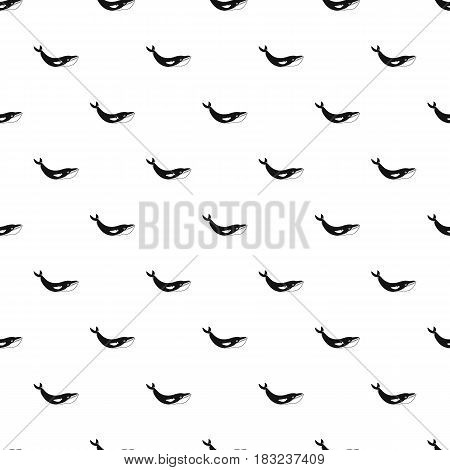 Whale pattern seamless in simple style vector illustration