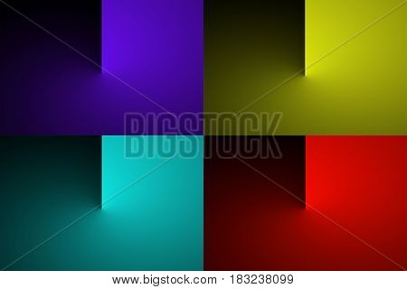 Abstract gradient color transition illustration abstract minimalism textures wallpaper background colorful 3D rendering