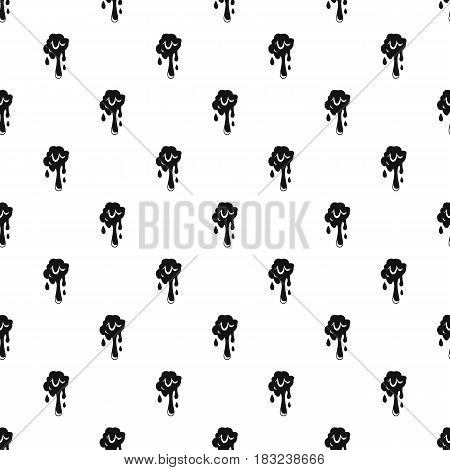 Dripping slime pattern seamless in simple style vector illustration