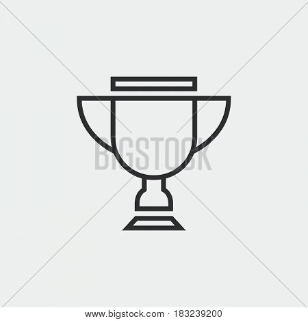 trophy icon isolated on white background .