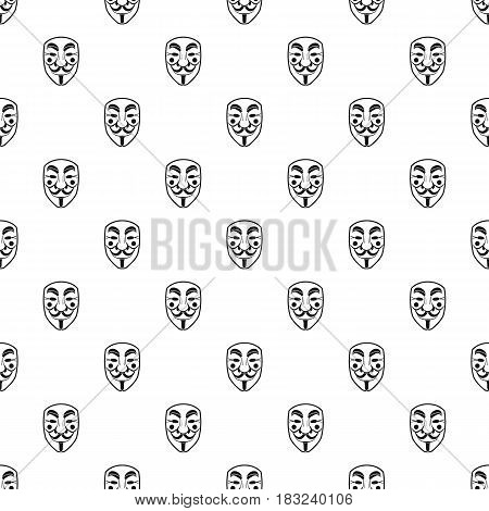 Vendetta mask pattern seamless in simple style vector illustration