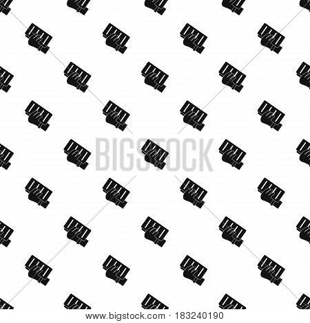 Brick in a hand pattern seamless in simple style vector illustration