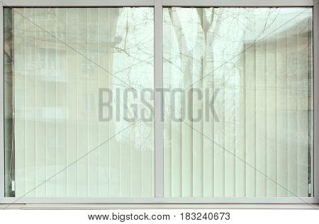 Plastic window with jalousie