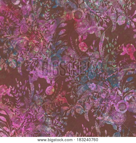 beautiful colorful abstract floral background