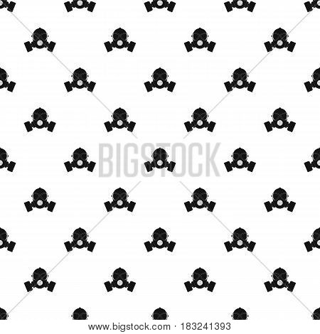 Respirator pattern seamless in simple style vector illustration