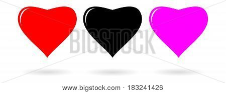 Heart Icon vector illustration Flat design style