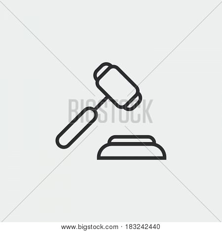 judge hammer icon isolated on white background .