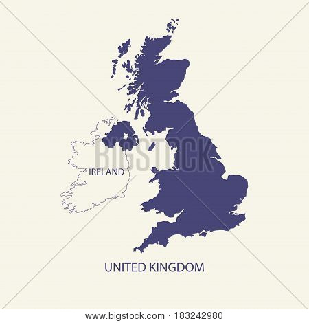 UNITED KINGDOM MAP, UK MAP illustration vector