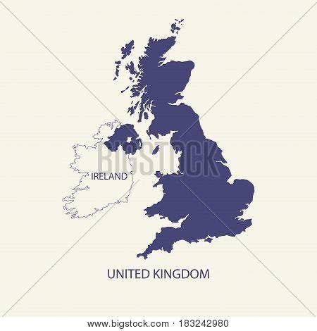 UNITED KINGDOM MAP, UK MAP illustration vector
