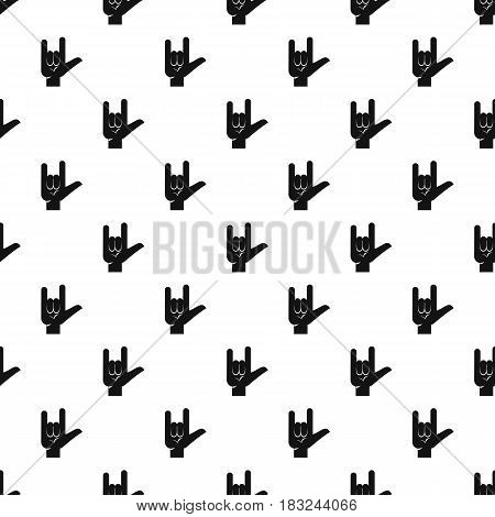 Rock gesture pattern seamless in simple style vector illustration