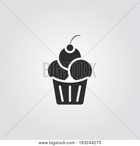 Ice Cream icon isolated on white background .