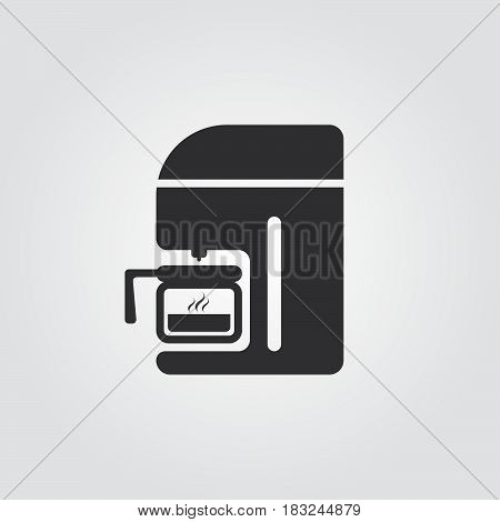 Coffee machine Icon isolated on white background .