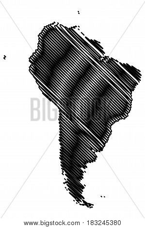 Map of South America vector illustration , South America
