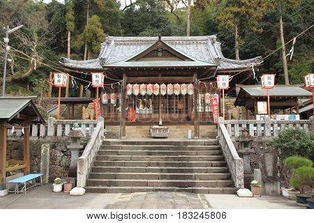 Prayer Hall Of Yasaka Shrine In Nagasaki, Japan