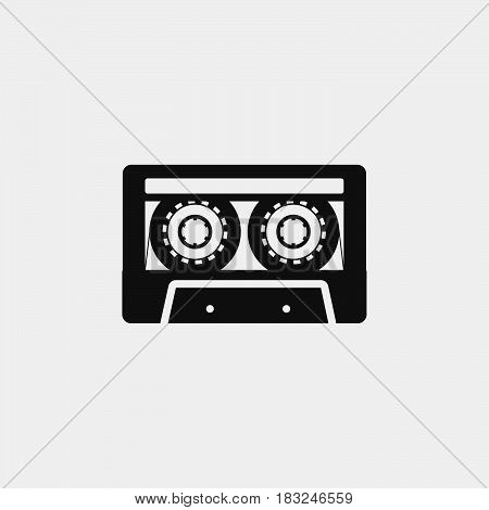 Cassette Icon isolated on white background .