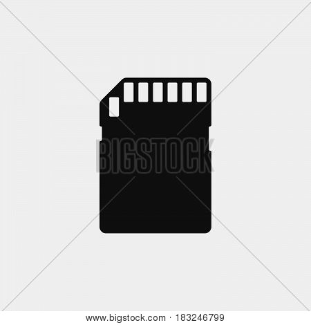 SD Card Icon isolated on white background