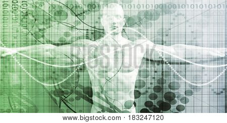Medical Review and Results Body Scan for Illness 3D Illustration Render