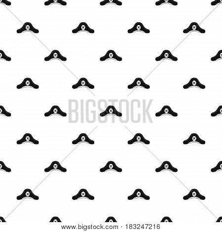 Pirate hat pattern seamless in simple style vector illustration