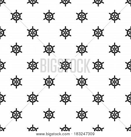 Ship wheel pattern seamless in simple style vector illustration