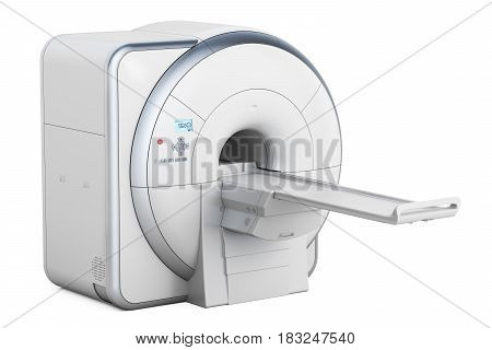 Magnetic Resonance Imaging Scanner MRI 3D rendering isolated on white background