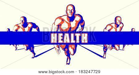 Health as a Competition Concept Illustration Art 3D Illustration Render