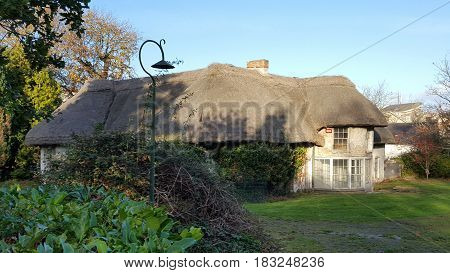 Old house in Ireland with roof made of stray
