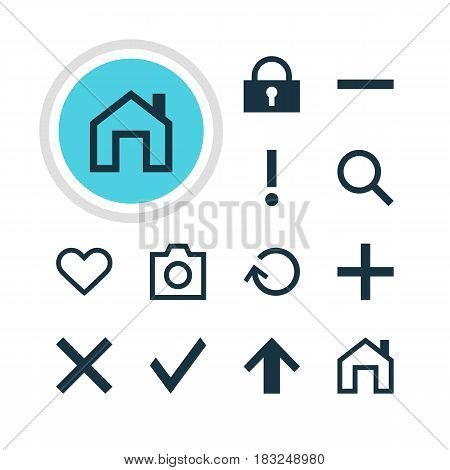 Vector Illustration Of 12 User Icons. Editable Pack Of Emotion, Check, Wrong And Other Elements.