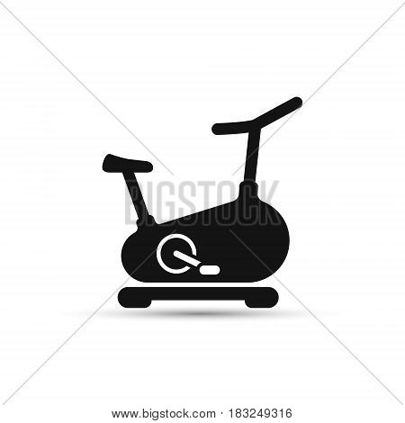 Stationary bicycle Exercise Bike line icon vector sign isolated on white bacground.