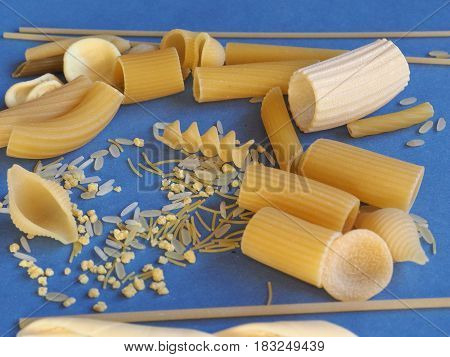 Traditional Italian Pasta With Copy Space With Copy Space