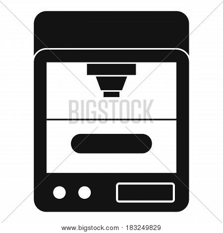 3D printer icon in simple style isolated on white background vector illustration