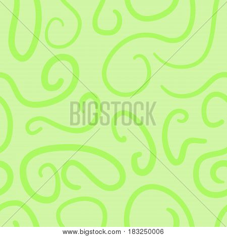 abstract vector colored swirls seamless pattern - green