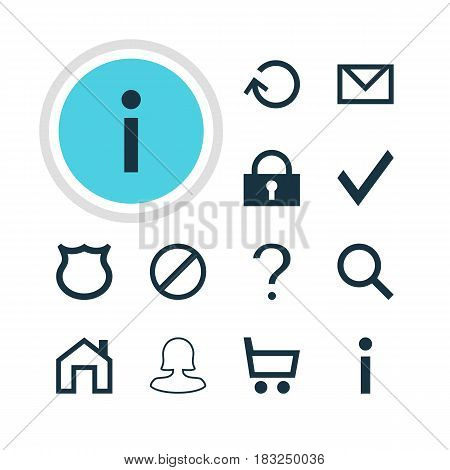 Vector Illustration Of 12 User Icons. Editable Pack Of Wheelbarrow, Padlock, Female User And Other Elements.