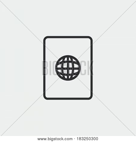 passport icon isolated on white background .