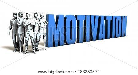 Motivation Business Concept as a Presentation Background 3D Illustration Render