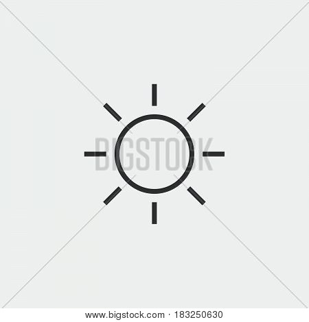 Sun icon isolated on white background .