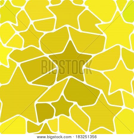 abstract vector stained-glass mosaic background - yellow stars
