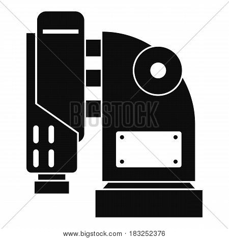 Pneumatic hammer machine icon in simple style isolated on white background vector illustration